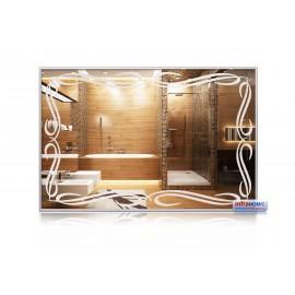 Miroirs chauffants Décorés Avec et sans Cadre - Dos MDF Gris