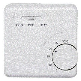 Thermostat intérieur en saillie programme journalier 5 à 30 °C