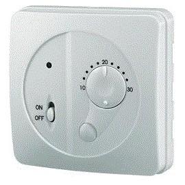 Thermostat intérieur en façade programme journalier 10 à 30 °C