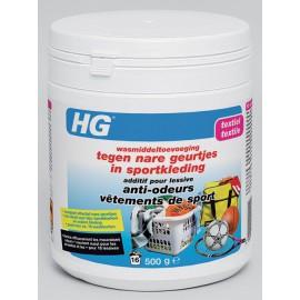 HG additif pour lessive anti-odeurs vêtements de sport